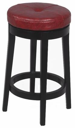 Chintaly 0299CSRED Residential Bonded Leather Upholstered Bar Stool