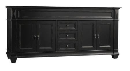 "Ronbow 062872-Torino 72"" Wood Vanity Cabinet with Four Wood Doors, Three Center Drawers and Shelf Inside:"