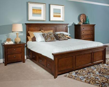 Broyhill ABBOTTBAYBEDCK  California King Size Panel Bed