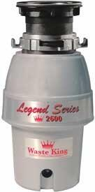 Waste King 2600 Continuous Feed 1/2 HP Food Disposer