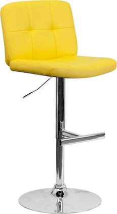 Flash Furniture DS829YELGG Residential Vinyl Upholstered Bar Stool
