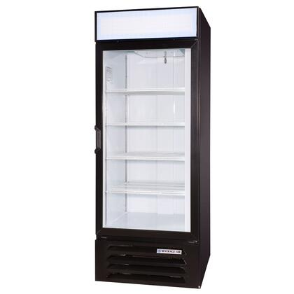 """Beverage-Air LV27-1 LumaVue 30"""" One Section Refrigerated Glass Door Merchandiser with LED Lighting, 27 cu.ft. Capacity, [Color] Exterior and Bottom Mounted Compressor"""
