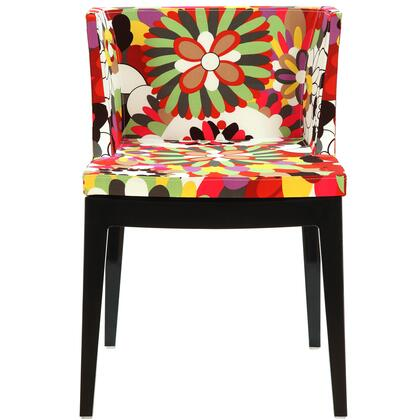 Modway EEI553BLK Flower Series Dining Fabric Wood Frame Accent Chair