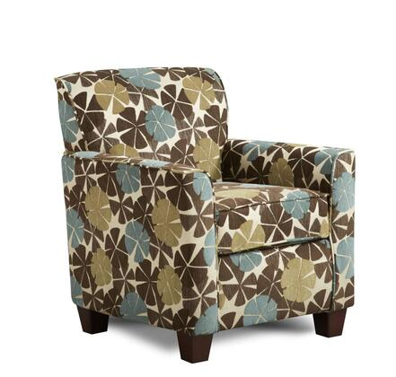 Chelsea Home Furniture 472800CVC Genna Series Armchair Fabric Wood Frame Accent Chair