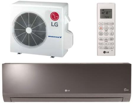 LG LAxxxHSV4 Art Cool Single Zone Inverter Mini Split System with 4-Way Auto Swing, Chaos Wind, and Gold Fin Anticorrosion