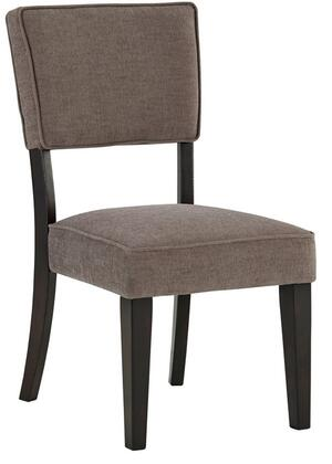 Signature Design by Ashley D53203GRY Gavelston Series Casual Fabric Wood Frame Dining Room Chair