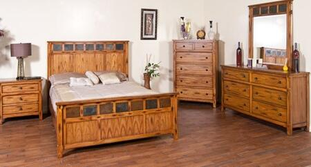 Sunny Designs 2333ROQ Sedona Series  Queen Size Panel Bed