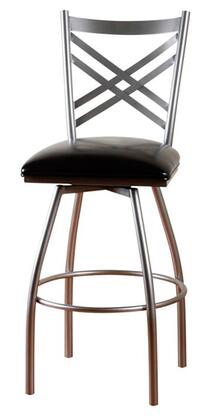 American Heritage 130758SIL50 Residential Leather Upholstered Bar Stool
