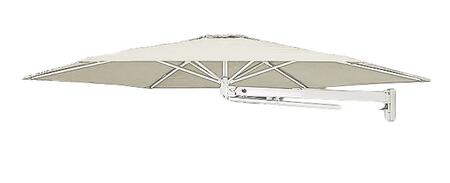 "Shadowspec Template: KITP6SQ30UNOWFAW (A) SU6 Uno 9'10""/3m Square Umbrella with Wall Mounted in Arctic White"