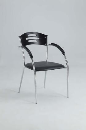Chintaly YOLANDA-AC YOLANDA DINING Solid Rubber Wood Arm Chair