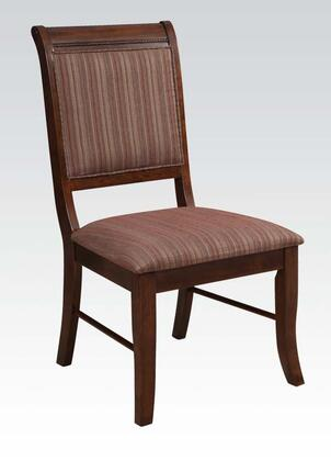 Acme Furniture 60683 Mahavira Series Contemporary Fabric Wood Frame Dining Room Chair