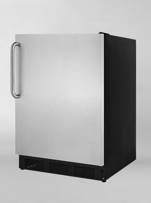 """Summit ALB753BSSTBLHD 24"""" Built In Counter Depth Compact Refrigerator with 5.5 cu. ft. Capacity, 3 Glass Shelves"""