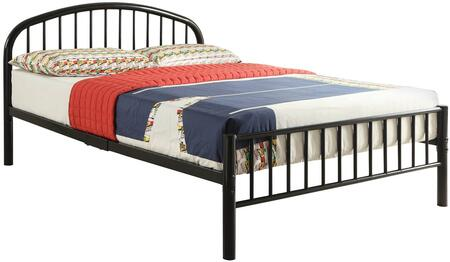 "Acme Furniture Cailyn 30465F 79"" Full Size Bed with Metal Tube, Slatted Headboard and Footboard in Color"