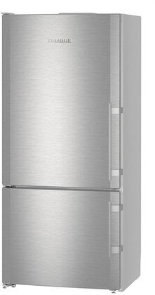 "Liebherr CS1400RIMx 30"" Bottom Freezer Refrigerator with 13.6 cu. ft. Capacity, SuperCool, SuperFrost, GlassLine Shelves, Icemaker, LED Light Column, in Stainless Steel"