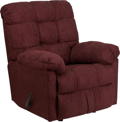 Flash Furniture HM400RADARWINEGG Contemporary Polyblend Wood Frame Rocking Recliners