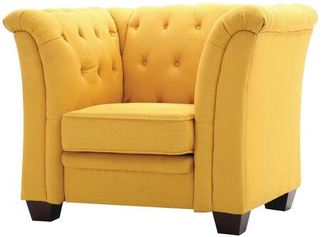 Glory Furniture G322C Fabric Armchair in Yellow Fabric