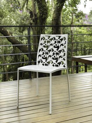 Modloft CDS196PBL6 Fleet Series Modern Not Upholstered Metal Frame Dining Room Chair