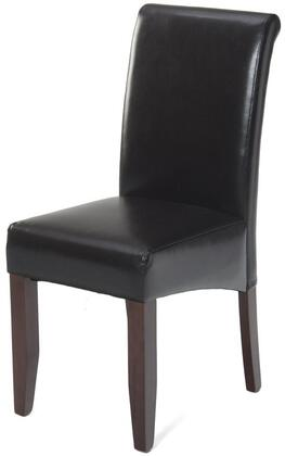 Jofran 888480KD Contemporary Bonded Leather Wood Frame Dining Room Chair