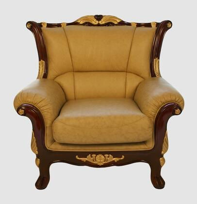 J. Horn 992C 992 Series Leather Armchair with Wood Frame
