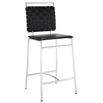 Modway EEI-1108 Fuse Counter Stool with Modern Design, PVC Padding, Foam Cushion, Foot Caps and Chrome Plated Metal Tubing