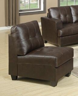 Acme Furniture 50923 Diamond Series Armless Chair Leather Accent Chair
