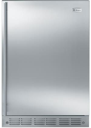 "GE Monogram ZIFX240HX 24"" Built-In Compact All-Refrigerator with 5.4 cu. ft. Capacity, Adjustable Temperature Control, LED Lighting, Removable and Spill-proof Glass Shelves in"