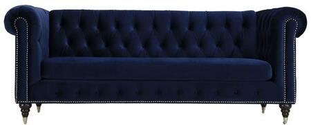 EdgeMod EM230RBLU Liza Series Stationary Fabric Sofa