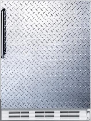 "AccuCold FF7BI 24"" FF7BI Series Medical, Commercially Approved Freestanding or Built In Compact Refrigerator with 5.5 cu. ft. Capacity, Seamless Interior, Hidden Evaporator and Automatic Defrost:"