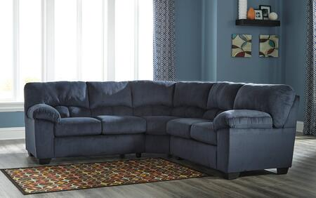 Milo Italia Jacqueline MI-4878FTMP 2-Piece Fabric Sectional Sofa with Left Arm Facing Loveseat, Right Arm Facing Loveseat, Plush Padded Arms and Divided Back Design in