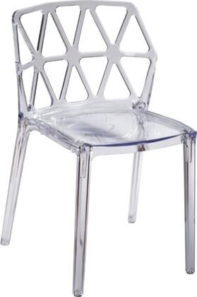 Fine Mod Imports FMI10028CLEAR Contemporary Not Upholstered Plastic Frame Dining Room Chair