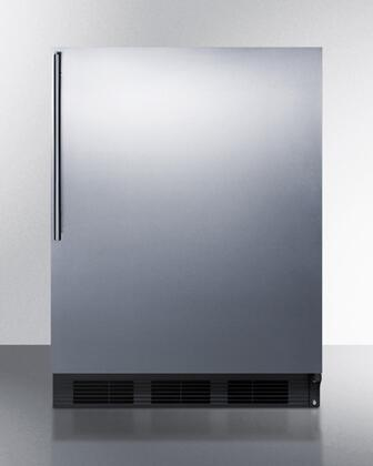 "Summit FF7BSSHVADA 24""  Stainless Steel Compact Refrigerator with 5.5 cu. ft. Capacity"