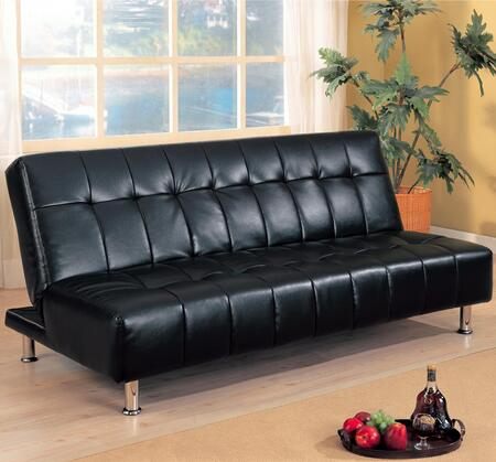 Coaster 300118  Convertible Faux Leather Sofa