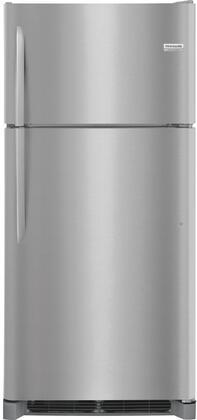 "Frigidaire FGTR1842Tx 18"" Top Mount Refrigerator with Humid Controlled Crisper Drawer, Glass Freezer Shelf, LED Lighting, and Custom Flex Door Bin & Accessories, in"