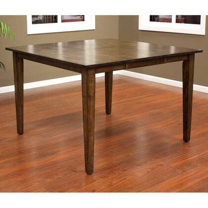 "American Heritage Este Series 700115XX 54"" Butterfly Counter Height Dining Table With Solid Wood Top and Base and Tapered Legs"