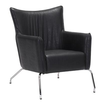 """Zuo 50050 Ostend Collection 35"""" Occassional Chair with Chrome Legs, and Leatherette Upholstery"""