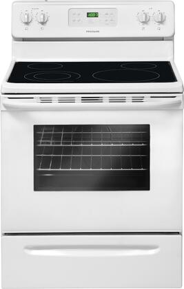 "Frigidaire FFEF3018LW 30"" Electric Freestanding Range with Smoothtop Cooktop, 5.3 cu. ft. Primary Oven Capacity, Storage in White"