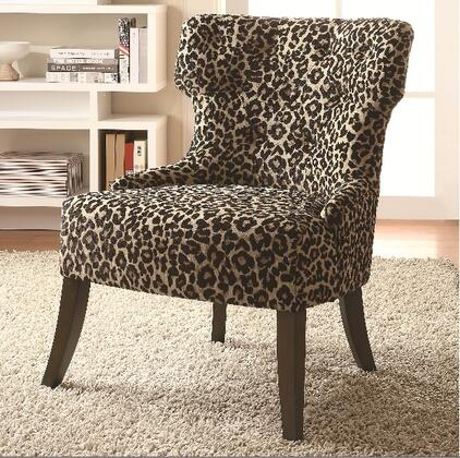 Coaster 902066 Accent Seating Series Fabric Wood Frame Accent Chair