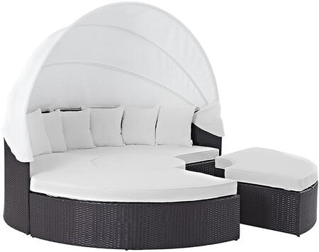 "Modway EEI2173EXPWHISET 86.5"" Water Resistant Canopy Outdoor Bed"
