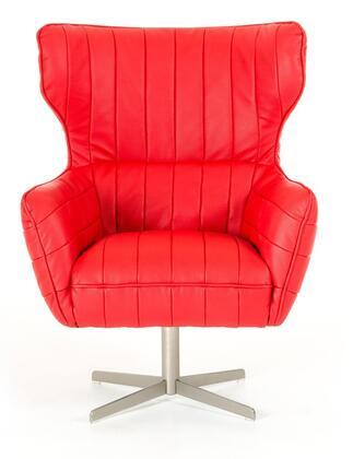 VIG Furniture VGKKA963RED Divani Casa Kylie Series Armchair Metal Frame Accent Chair