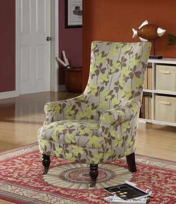 Armen Living LC2108VIFR Fabric Armchair with Wood Frame