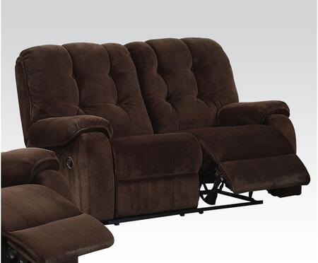 Acme Furniture 51146 Nailah Series Fabric Reclining with Wood and Metal Frame Loveseat
