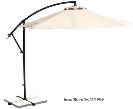 Blue Wave NU6400 Santiago 10' Octagon Canopy Cantilever Umbrella with a Neutral Bronze Finished Aluminum Pole, 8 Canopy Ribs, Crank Handle and Manual Tilt: