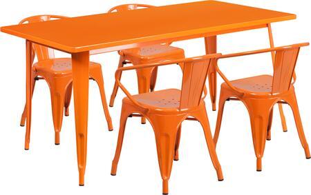 Flash Furniture ETCT005470ORGG Rectangular Shape Patio Sets