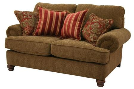 "Jackson Furniture Belmont Collection 4347-02- 71"" Loveseat with Chenille Fabric Upholstery, Reversible Box Welted Seat Cushions and Four Pillows in"