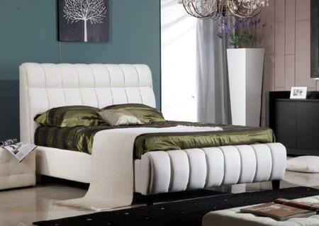 Diamond Sofa UPTOWNCKINGW Uptown Series  California King Size Bed