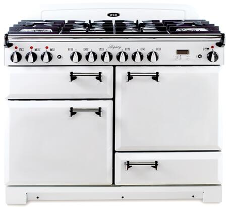 "AGA ALEG44DFVWH 44"" Legacy Series Dual Fuel Freestanding Range with Sealed Burner Cooktop, 2.4 cu. ft. Primary Oven Capacity, Storage"