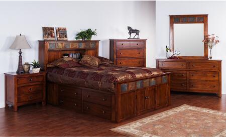 Sunny Designs 2334DCSQBDMN Santa Fe Queen Bedroom Sets