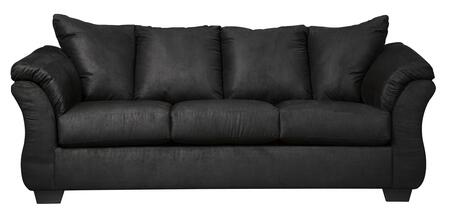 """Milo Italia Tristian Collection MI-5463GTMP 89"""" Sofa with Fabric Upholstery, Plush Padded Arms and Tapered Block Feet in"""