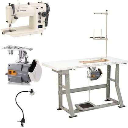"Reliable 2x00SZ Zig-Zag, Straight Sewing Machine with x RPM Sewing Speed, SewQuiet 6000SM ServoMotor, UberLight 9000C SMD LED Lighting and 100% Plywood Tabletop with 3/32"" Steel K-Legs"