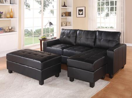 Acme Furniture Lyssa 5121 83quot Reversible Sectional Sofa With Chaise Ottoman